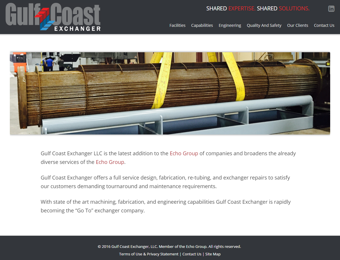Gulf Coast Exchanger Website
