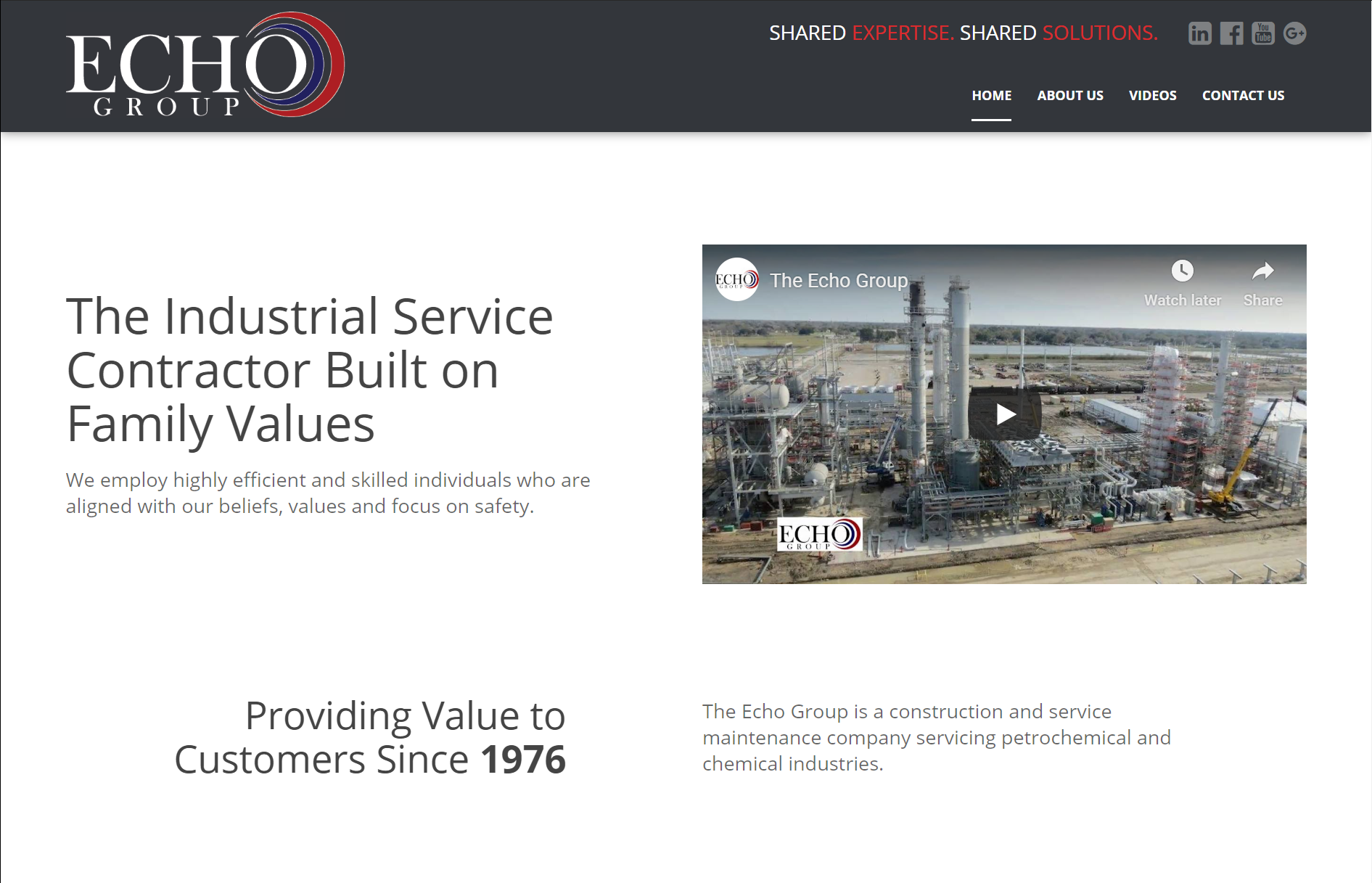 Industrial Specialty Crafts Website by Stryker S